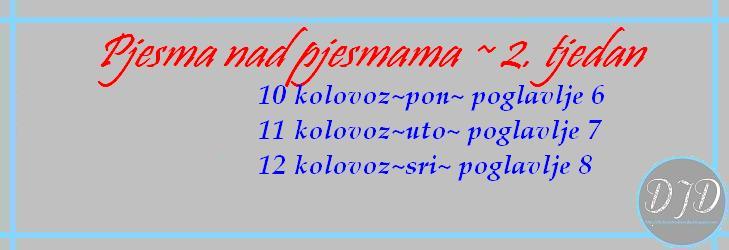 pjesma nad pjesmama 2tj - plan čitanja